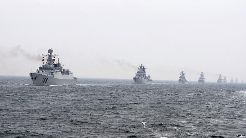 Китайские ВМФ на страже морских интересов своего государства.