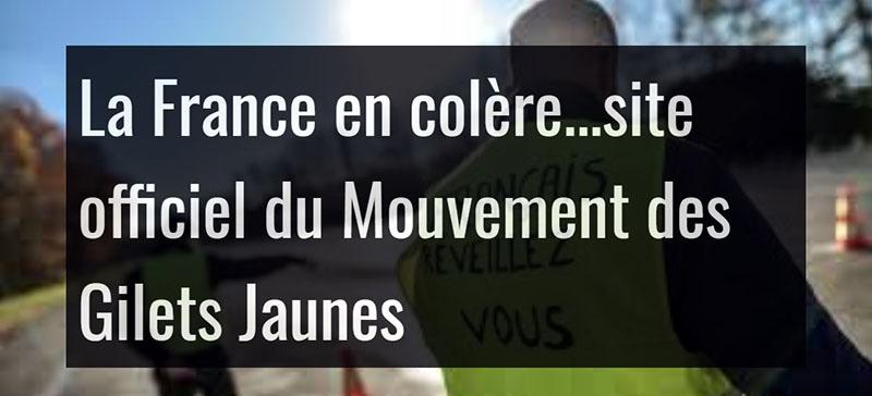 Cайт «Франция во гневе» стал главным средством информации и координации.