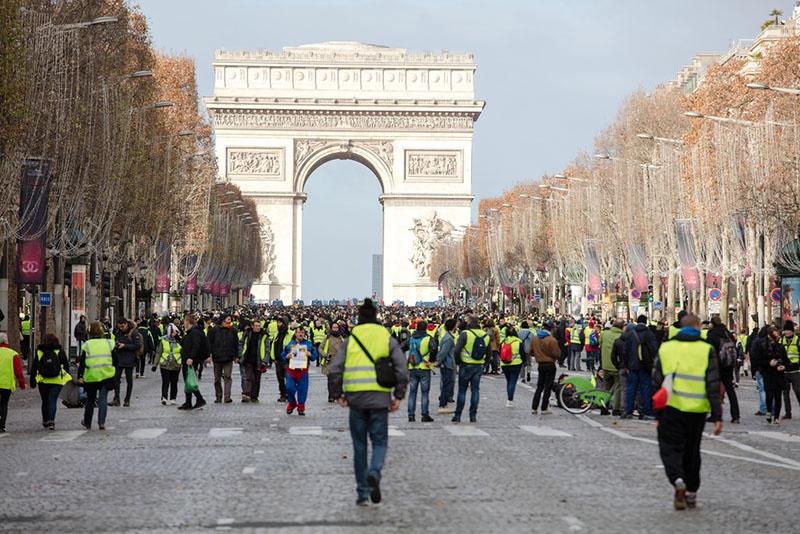 Протест «желтых жилетов».