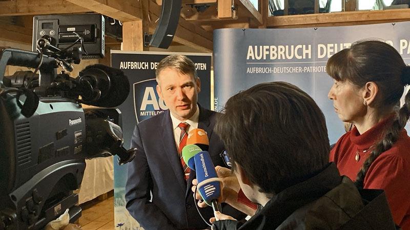 Андрэ Поггенбург объявил о создании новой партии - «Пробуждение немецких патриотов — центральная Германия».