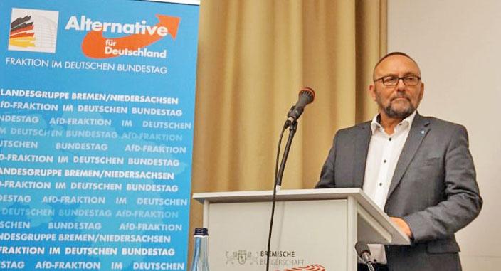 Председатель земельного отделения АдГ в Бремене Франк Магнитц.