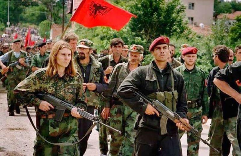 Победный марш Армии освобождения Косово.