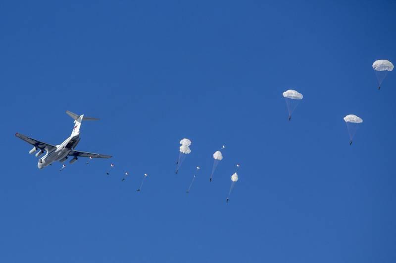 Была проведена выброска целого парашютно-десантного полка.
