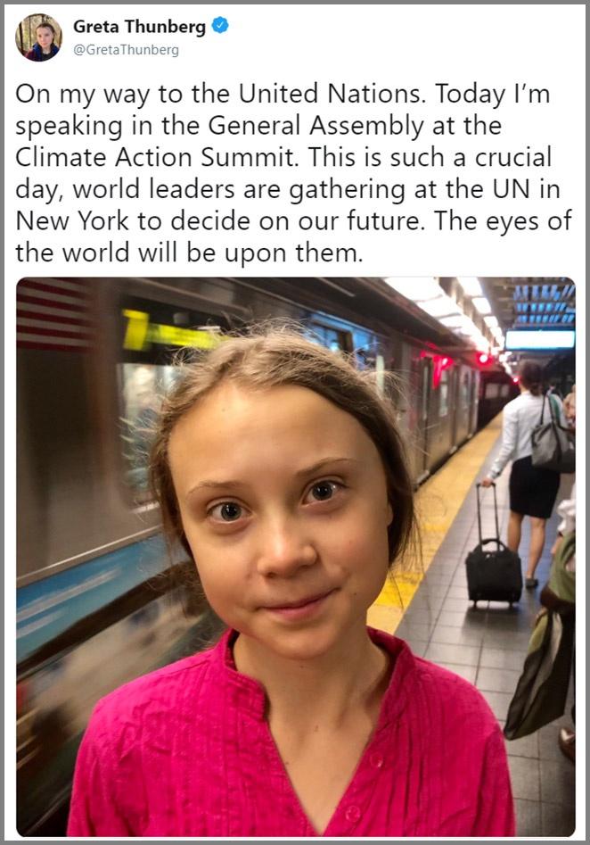 16-летняя школьница собирается бросить обвинение «взрослым» «лидерам мировых держав» - выступить на климатическом саммите ООН в Нью-Йорке.