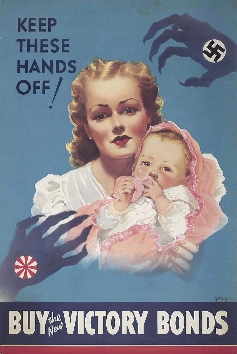 Канадский плакат призывающий покупать военные облигации.