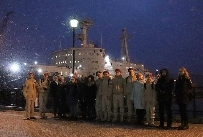 На ледоколе «Ленин» архангелогородцы встретились с мурманскими юнармейцами.