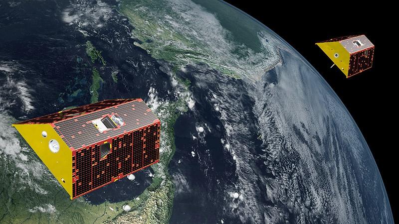 Американские спутники GRACE-FO для картографирования гравитационных полей.