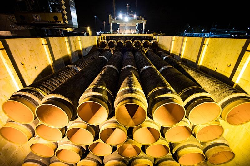 Трубы для окончания строительства «Северного потока-2».