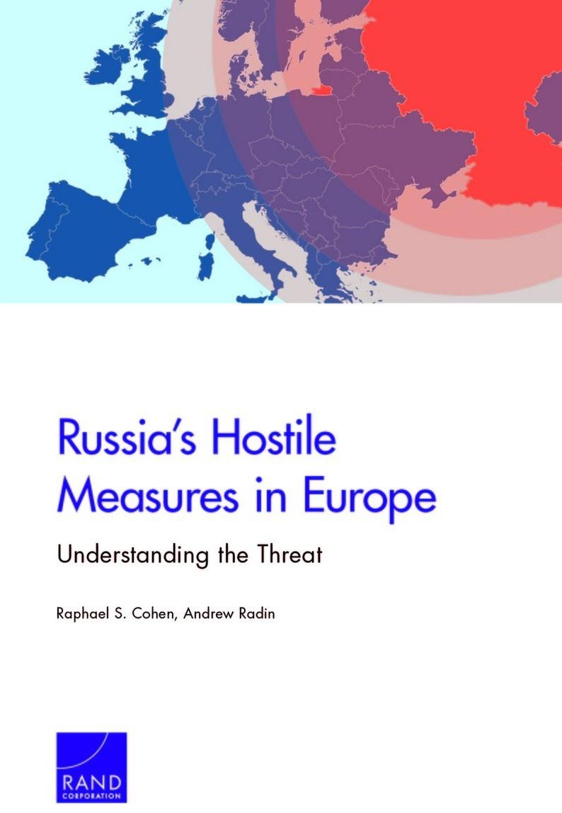 Доклад «Russia's Hostile Measures in Europe. Understanding the Threat».
