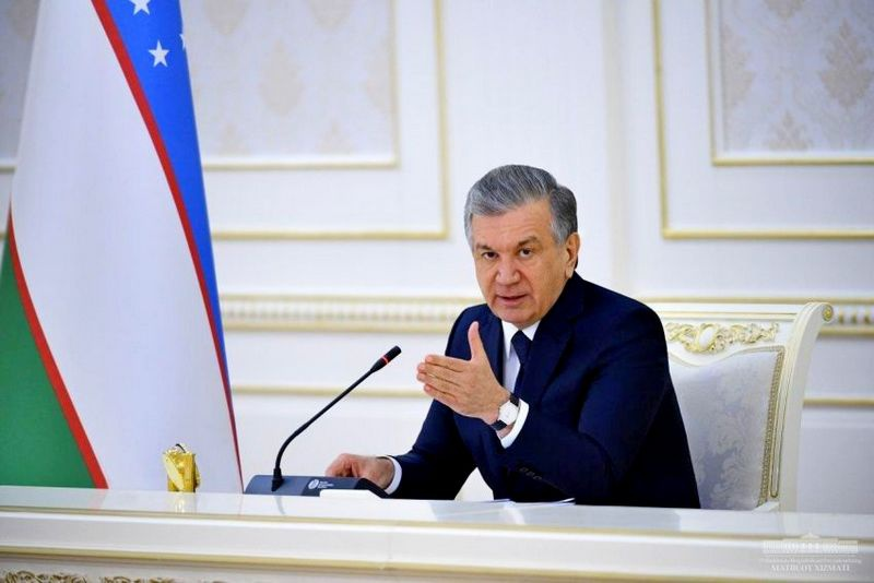 Президент Республики Узбекистан Шавкат Мерзиёев.