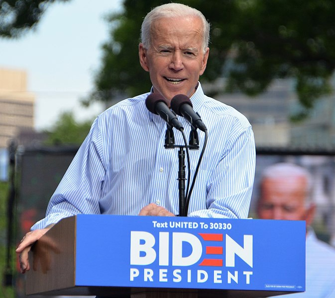 Кандидат в президенты от Демократической партии Джозеф Байден.