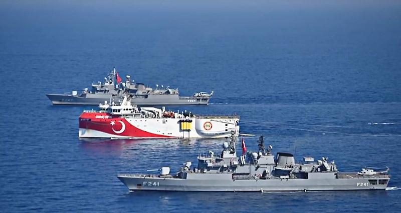 Турция начала сама разведывать шельф непризнанной и подконтрольной ей Турецкой республики Северного Кипра (ТРСК) под надзором своих ВМС.